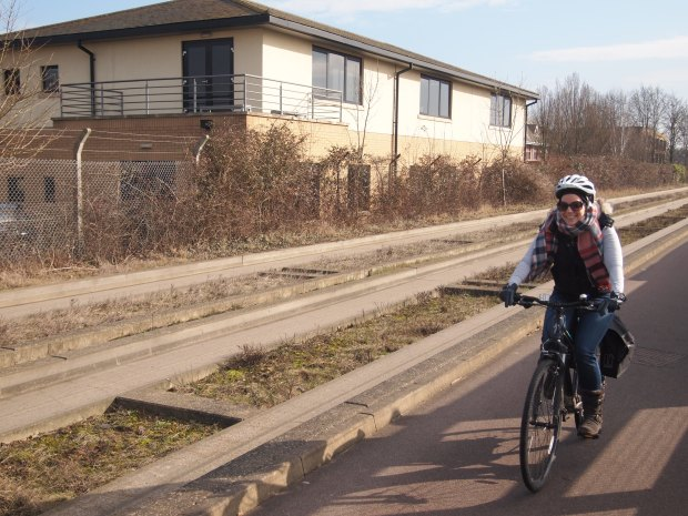 Cycling on the busway